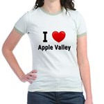 I Love Apple Valley Jr. Ringer T-Shirt