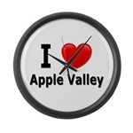 I Love Apple Valley Large Wall Clock