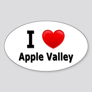 I Love Apple Valley Oval Sticker