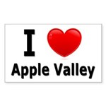 I Love Apple Valley Rectangle Sticker