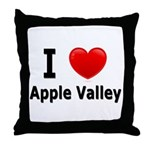 I Love Apple Valley Throw Pillow