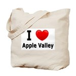 I Love Apple Valley Tote Bag
