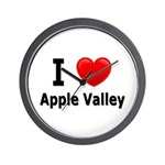 I Love Apple Valley Wall Clock