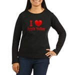 I Love Apple Valley Women's Long Sleeve Dark T-Shi