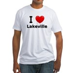 I Love Lakeville Fitted T-Shirt