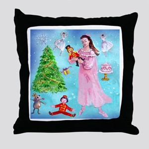 Nutcracker & Clara Throw Pillow