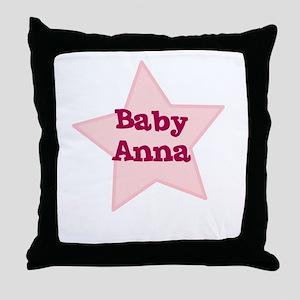 Baby Anna Throw Pillow