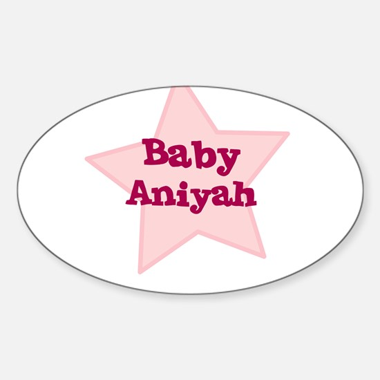 Baby Aniyah Oval Decal