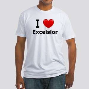 I Love Excelsior Fitted T-Shirt