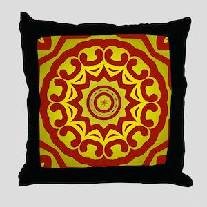 Throw Pillow with a kalidisopic design.