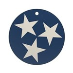 Tennessee State Stars Round Ornament