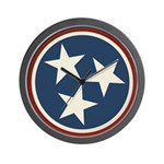 Tennessee State Stars Wall Clock