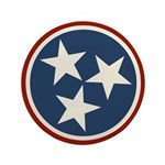 Tennessee State Stars Button