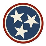 Tennessee State Stars Round Car Magnet