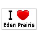 I Love Eden Prairie Rectangle Sticker