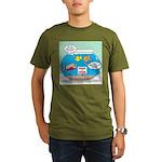 Piranha Guard Fish Organic Men's T-Shirt (dark)