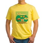 Piranha Guard Fish Yellow T-Shirt