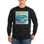 Piranha Guard Fish Long Sleeve Dark T-Shirt