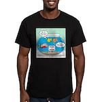 Piranha Guard Fish Men's Fitted T-Shirt (dark)