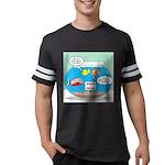 Piranha Guard Fish Mens Football Shirt