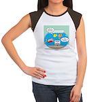 Piranha Guard Fish Junior's Cap Sleeve T-Shirt