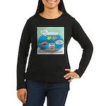 Piranha Guard Fis Women's Long Sleeve Dark T-Shirt