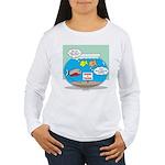 Piranha Guard Fish Women's Long Sleeve T-Shirt