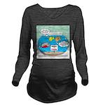 Piranha Guard Fish Long Sleeve Maternity T-Shirt