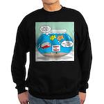 Piranha Guard Fish Sweatshirt (dark)