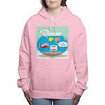 Piranha Guard Fish Women's Hooded Sweatshirt