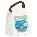 Piranha Guard Fish Canvas Lunch Bag