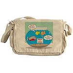 Piranha Guard Fish Messenger Bag