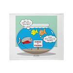 Piranha Guard Fish Throw Blanket