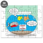 Piranha Guard Fish Puzzle