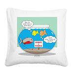 Piranha Guard Fish Square Canvas Pillow