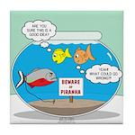 Piranha Guard Fish Tile Coaster