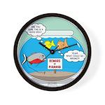 Piranha Guard Fish Wall Clock