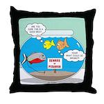 Piranha Guard Fish Throw Pillow