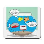 Piranha Guard Fish Mousepad