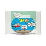 Piranha Guard Fish Rectangle Magnet (10 pack)