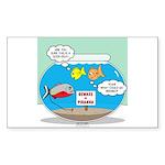 Piranha Guard Fish Sticker (Rectangle 50 pk)