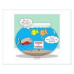 Piranha Guard Fish Small Poster