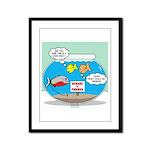 Piranha Guard Fish Framed Panel Print