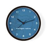Michigan Native wall clock
