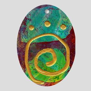 Spiral Meditation Oval Ornament