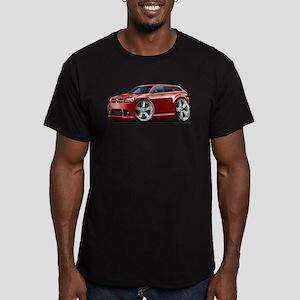 Dodge Magnum Maroon Car Men's Fitted T-Shirt (dark