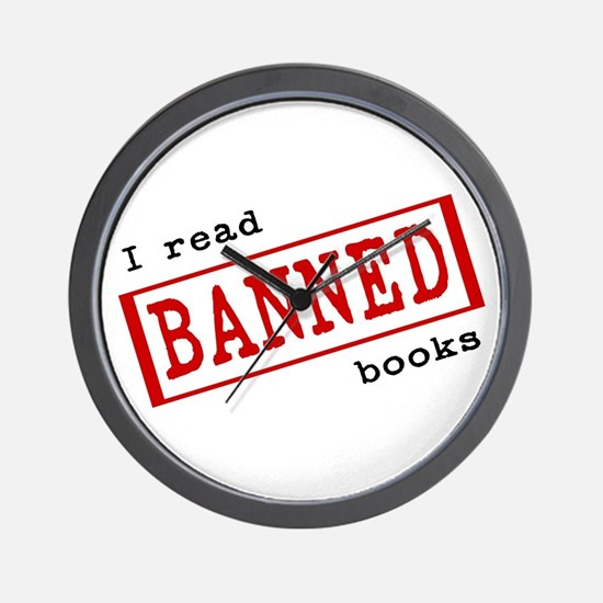 Banned Books Wall Clock