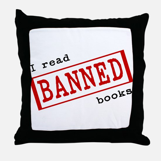 Banned Books Throw Pillow