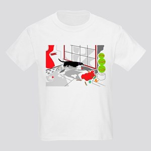 Looking In on Santa Kids Light T-Shirt