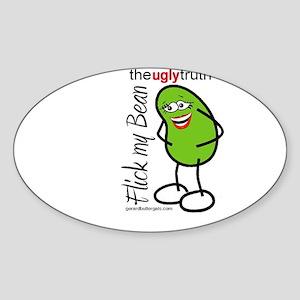 Flick My Bean Oval Sticker